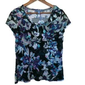 Simply Vera by Vera Wang women's floral top large